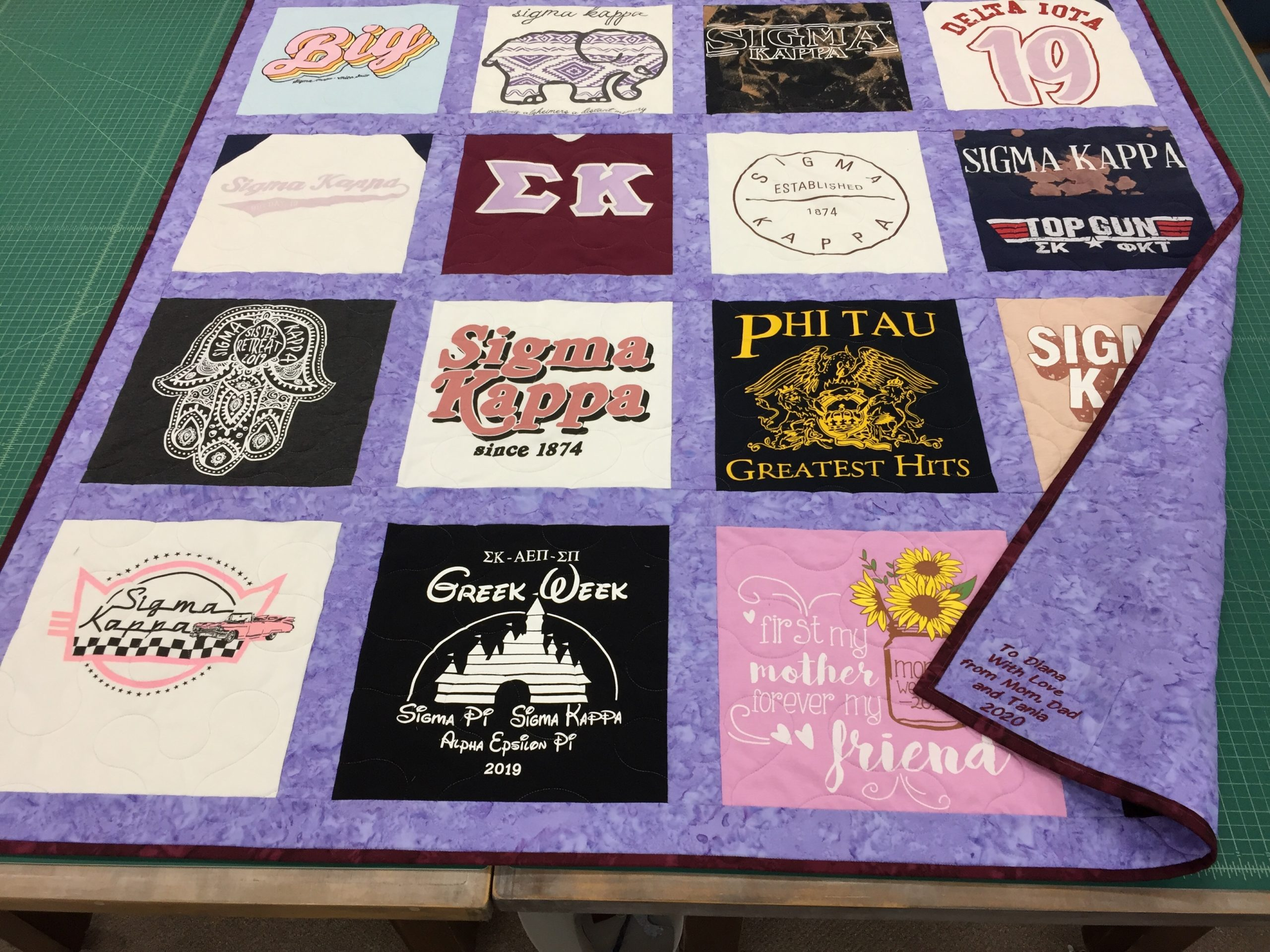 T-Shirt Quilt example