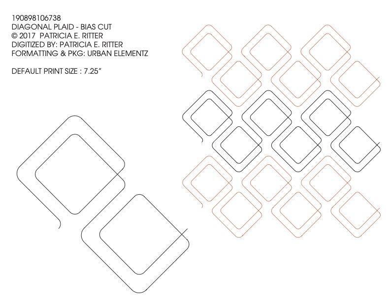 DIAGONAL PLAID-BIAS CUT Quilting Pattern